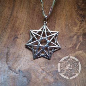 Seven Point Heart Star Pendant for Magick & Planetary Connections