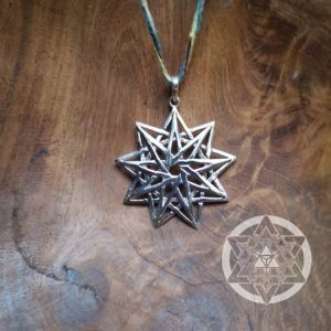 Star of Unity and Completion 9 point Star Pendant