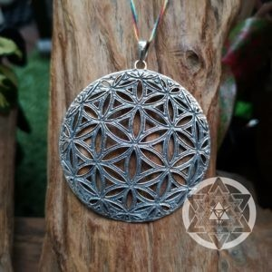 Seed of Life sterling silver XL Pendant for Raising Sacred Vibrations & Protection