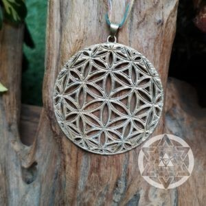 Seed of Life XL brass pendant for Raising Sacred Vibrations & Opening New Pathways in Life