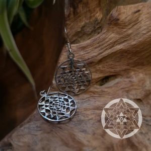 Inverse Sri Yantra Earrings
