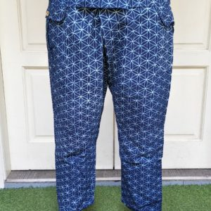 Indigo Fisherman Pants (Dark Blue Flower of Life)
