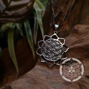 Seed of Life Petal Silver Pendant for New Beginnings & Blessings of Co-Creation