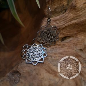 Seed of Life Petal Earrings for Balance & Creative Flow