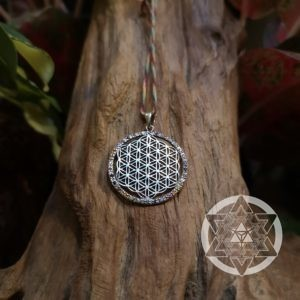 Flower of Life Rainbow CZ Pendant
