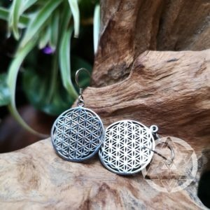 Flower of Life Earrings (925 Silver)
