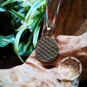 Flower of Life Pendant (Brass)
