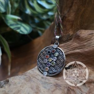 Flower of Life Reversible Kabbalah Tree of Life Pendant