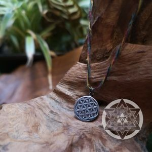 Seed of Life Silver Pendant (XS) for Baby steps in Creating the New