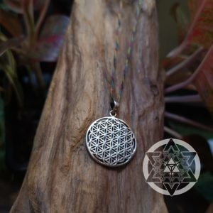 Flower of Life Pendant (Silver Plated)