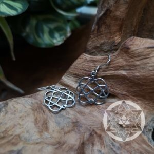 Double Heart Infinity Earrings